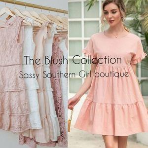 ⭐🆕Blush pink babydoll dress